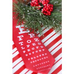 Snellen Chart On Red or Black Background Necktie