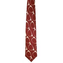 Eyeglasses On Rusty Red Background Necktie
